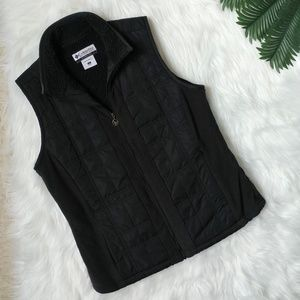 Columbia Black Sherpa Vest Size Small